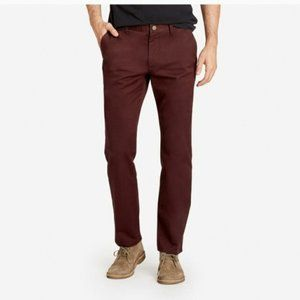 Bonobos Slim Fit Tailored Chinos Burgundy Wine